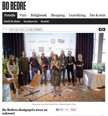 Bo Bedres designpris 2012