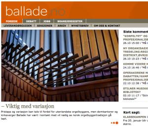 """""""Orgel i Norge er anlegg"""" Ballade"""