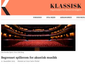 Akustikk Klassisk