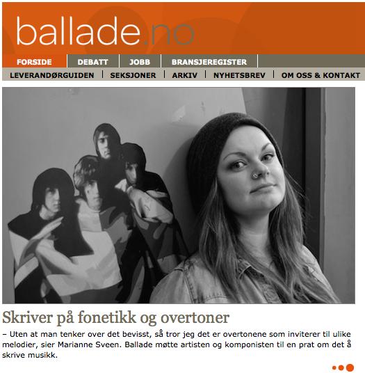 Marianne Sveen_Ballade
