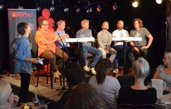 F.v. Knut Schreiner, Arnt Maasø, Per Stenstrøm, Kai Robøle, Marius Lillelien, Bjørn Rogstad og Jarle Sevio Foto: Linn Carin
