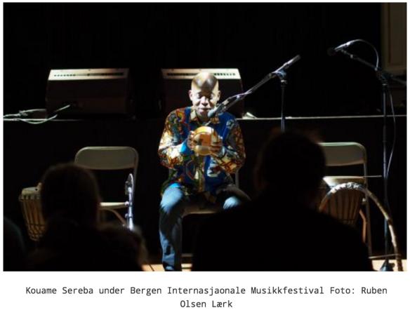 Kouame Sereba under Bergen Internasjaonale Musikkfestival Foto: Ruben Olsen Lærk