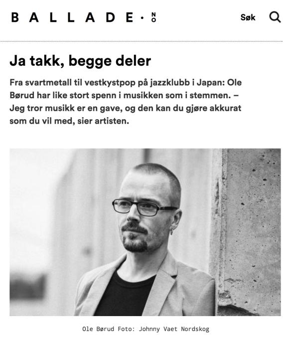 Intervju, Ole Børud