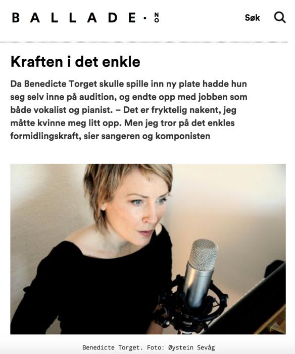 Intervju med Benedicte Torget